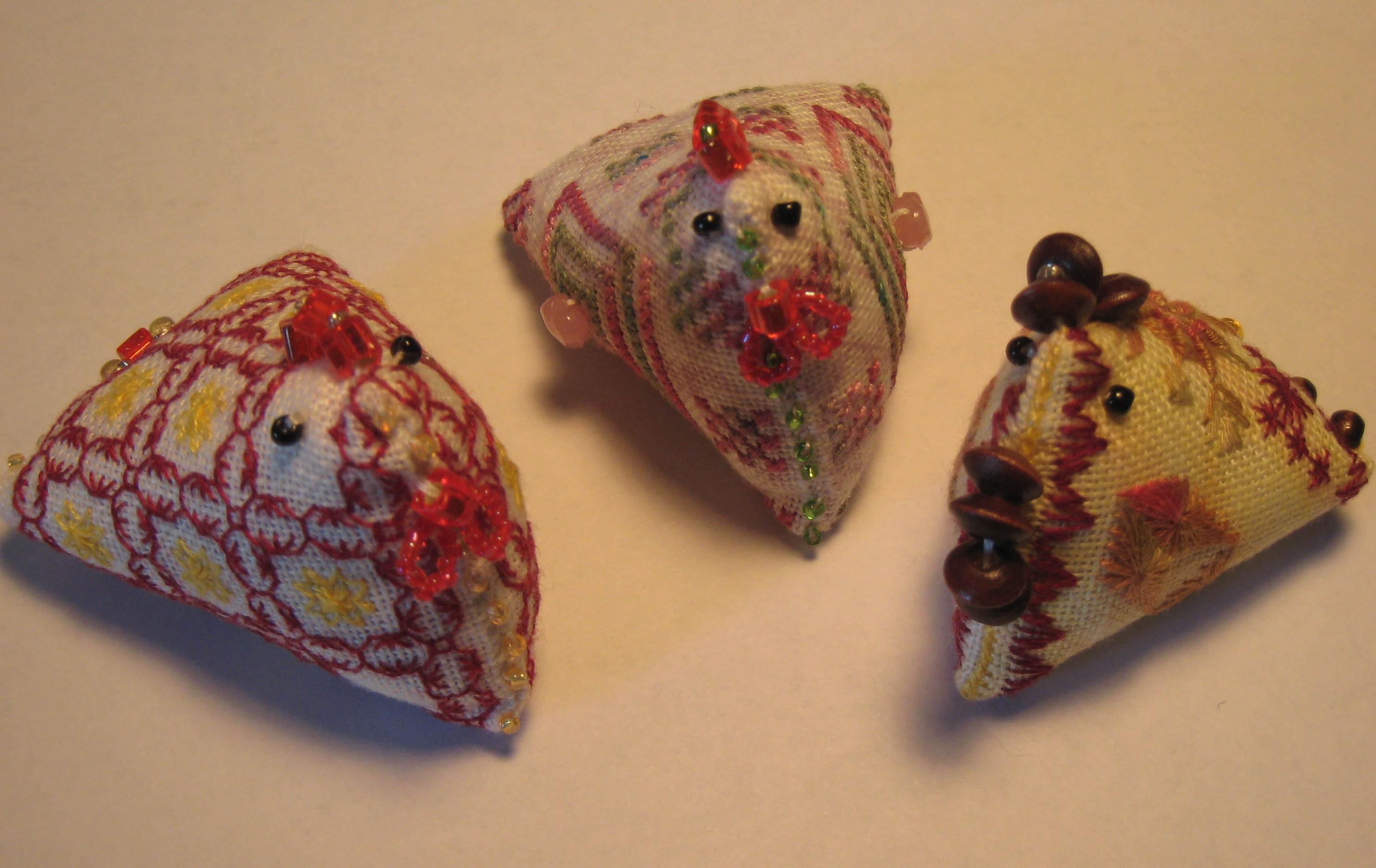 Mystery Chicken Pincushions